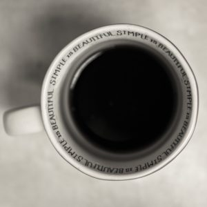 simple black coffee