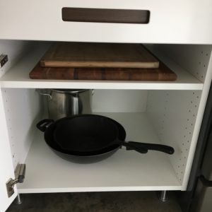 Wok, large pot, cutting boards.