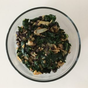onion kale black bean